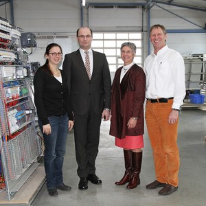 Tina Lambert, State Secretary Albert Füracker, Hannelore Spangler and Helmut Graspointner
