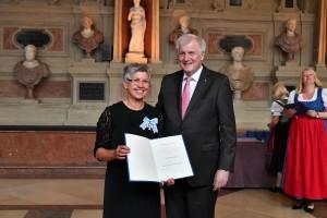 SPANGLER Automation Hannelore Spangler with minister president Horst Seehofer