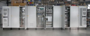 Control cabinets for the control of the motor outputs