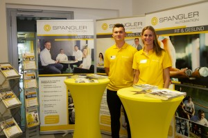 Information stand about the apprenticeship at SPANGLER GMBH