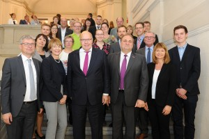 Award winners of 'Training without borders' together with the German Federal Minister of Economics and Energy Peter Altmaier
