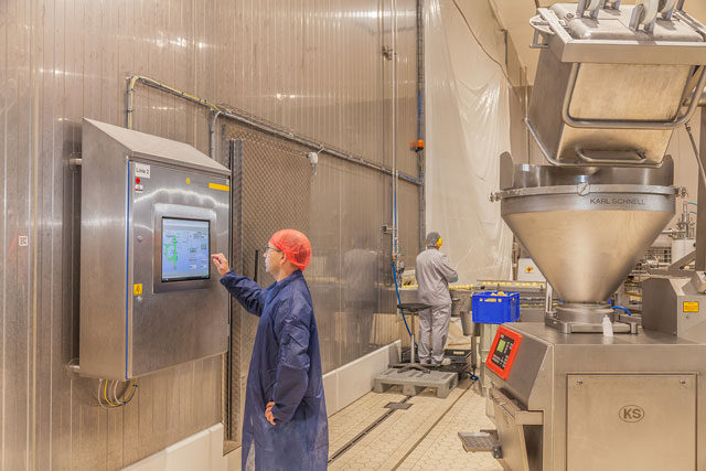 Local operation of the manufacturing via touch panels