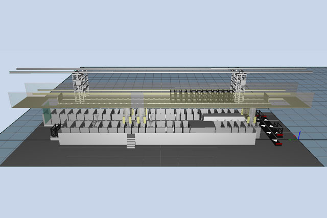 Virtual construction of the manufacturing plant