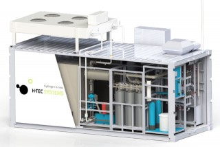 Elektrolyser with central control system in a sea container. (Source: H-TEC SYSTEMS GmbH)