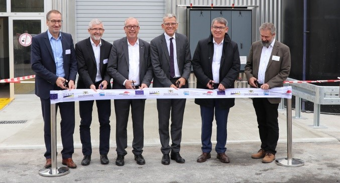 Dedication of the plant with representatives of operators, companies and ministry of environment